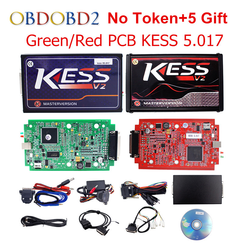 Online Master KESS V5.017 V2.23 Red PCB Manager Tuning Kit KESS 5,017 Kein Tokens Für Auto/Lkw/Traktor freies Verschiffen