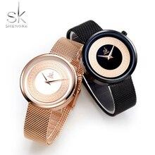 3f3b2cbcf5c8 Señoras SK de moda de marca de lujo de las mujeres reloj de cuarzo creativo  para