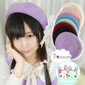 Lolita Girls Candy Colors Manga Drawer's Beret Hat Kawaii Cute Painter Beret Cap