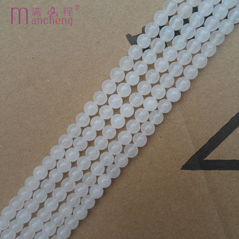 White 8MM Natural stone Snow quartz beads Best-selling cheap Semi-precious Stone Snow Quartz White bead Loose beads (47-48beads) image