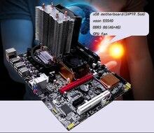 New original motherboard x58 motherboard(24*19.5cm) +xeon E5540 +DDR3 8G(4G+4G)+fan  LGA 1366 DDR3 ATX mainboard  Free shipping