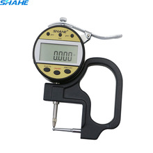 0-10 0.01mm Digital micrometer thickness gauge leather thickness Fast dispiay data for large LCD screeen Tube thickness gauge