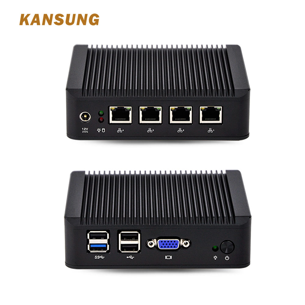 Home Industrial Mini PC J1900 Processor Quad Core Nano ITX 4 Gigabit NIC Firewall Router Fanless X86 Singal Board Computer