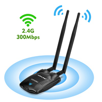 Wavlink Wireless High Power 300Mbps USB WiFi Adapter Network Card Adaptor Antenna Wifi Receiver 500mW 27dBm