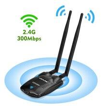 Wavlink Wireless 300Mbps High Power USB WiFi Adapter Network Card adaptor Antenna wifi receiver 500mW 27dBm IEEE 802.11b/g/n NEW