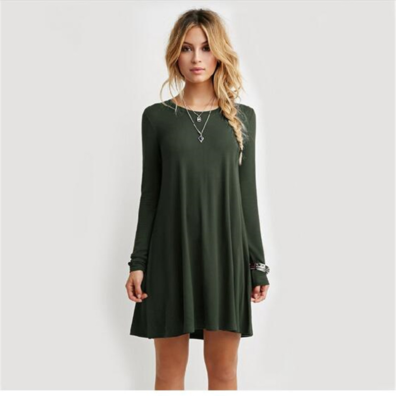 2019 Women Spring Sweater <font><b>Dresses</b></font> Loose <font><b>Big</b></font> <font><b>Size</b></font> 5XL Cotton Fashion Slim <font><b>Sexy</b></font> Bodycon Solid Color Robe Long Knitted <font><b>Dress</b></font> S0012 image