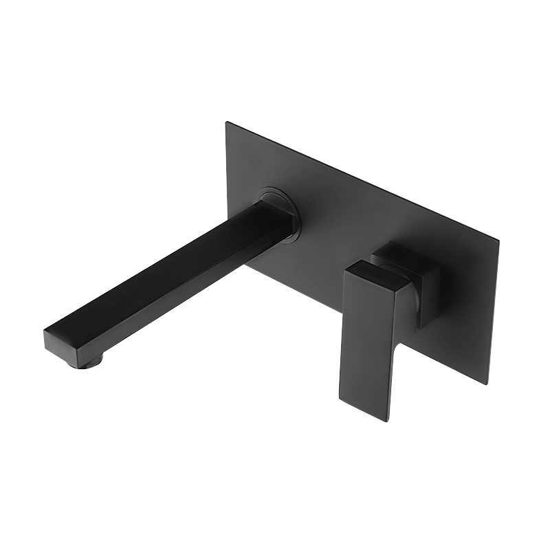 High Quality Square Black Style Bath Shower Bathtub Wall Mounted Sink Basin Mixer Tap Wels Bathroom Vanity Spout Faucet B 6201 bagnolux factory direct high quality bathroom sink basin mixer tap wels bathroom spout faucet with single lever in chrome black