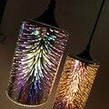 Einfache glas lampe feuerwerk FÜHRTE anhänger licht 3D glas bunte Überzogene moderne vintage shop innen beleuchtung hängen leuchte