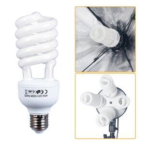 Image 2 - E27 45W x 4 PCSสำหรับสตูดิโอถ่ายภาพหลอดไฟ 110 240V 5500Kแสงการถ่ายภาพdaylightโคมไฟการถ่ายภาพแสง