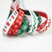 Nastri di natale festosa decorazione nastri lace accessori per capelli FAI DA TE stampa nastro di raso regalo Di Natale serie imballaggio 9mm