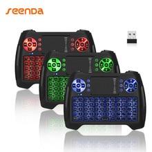 Seenda Mini Air Mouse Mini Keyboard 2.4G English Wireless Keyboard Remote Control For Windows Android TV Box PC Projector