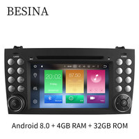 Besina Android 8 0 Two Din 7 Inch Car DVD Player For Mercedes Benz SLK R171