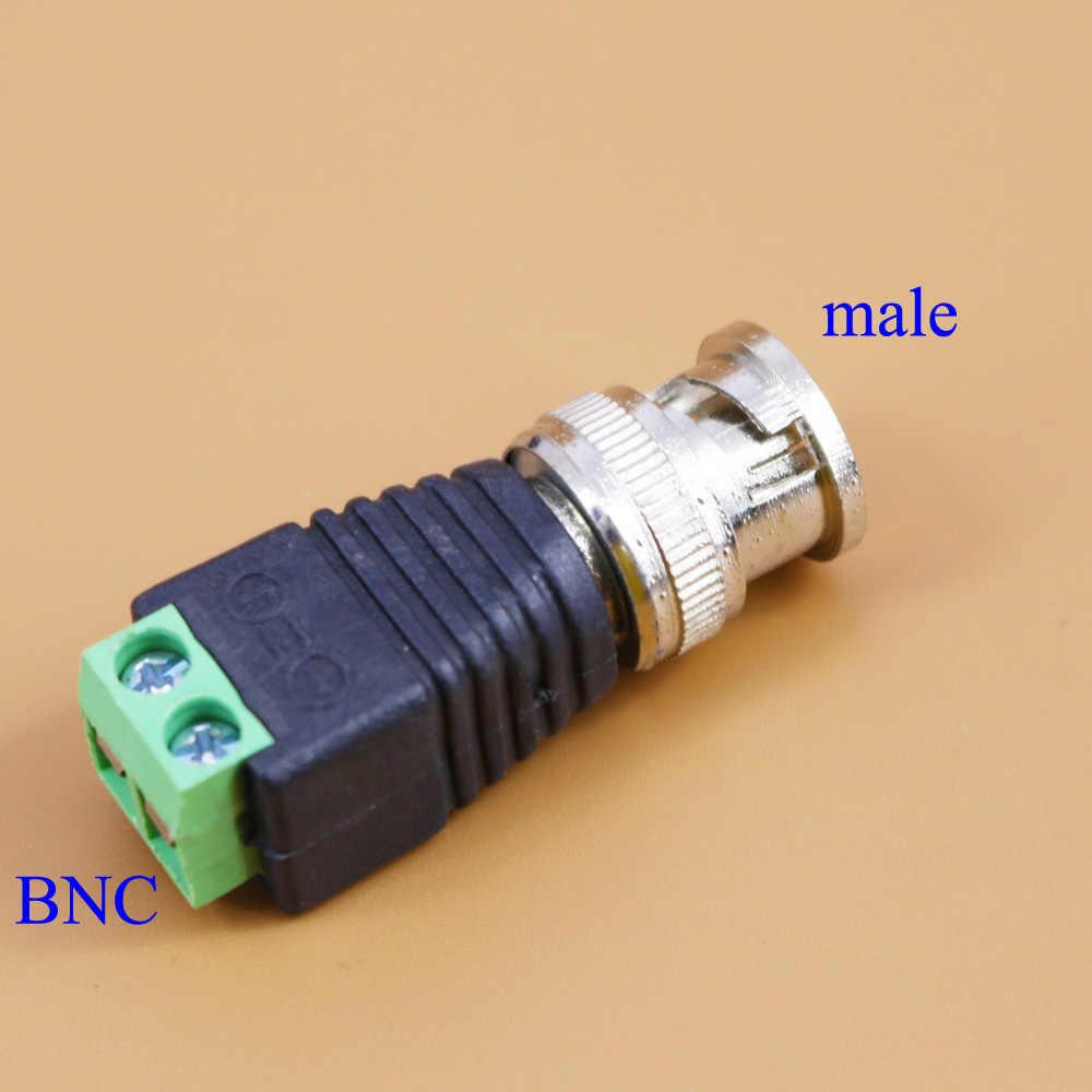 YuXi męskie i żeńskie DC zasilania do gniazdka 5.5x2.1 MM 5.5*2.5 MM BNC/RCA 12 V 24 V adapter gniazda jack złącze wtykowe