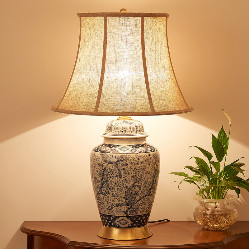 Porzellan Service China Antique Living Room Vintage Table Lamp Porcelain