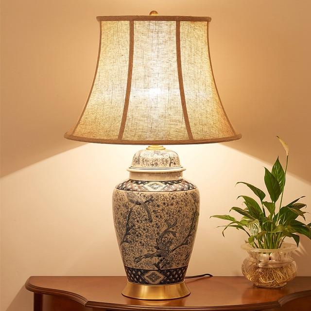 chine antique salon vintage lampe de table en porcelaine. Black Bedroom Furniture Sets. Home Design Ideas