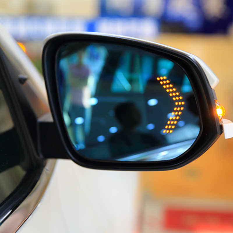 Tonewan 2 Pcs/lot  14 SMD LED Arrow Panel For Car Rear View Mirror Indicator Turn Signal Light Car LED Rearview mirror light
