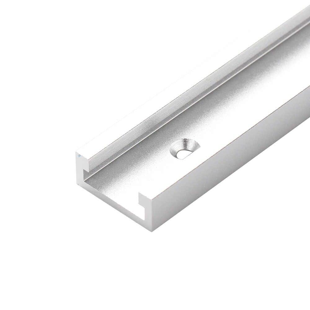 Dalle de glissière de fente de voie de T pour le montage de voie d'onglet de t-slot t-track outils de travail du bois de Table de routeur de fente 300/400/500/600mm