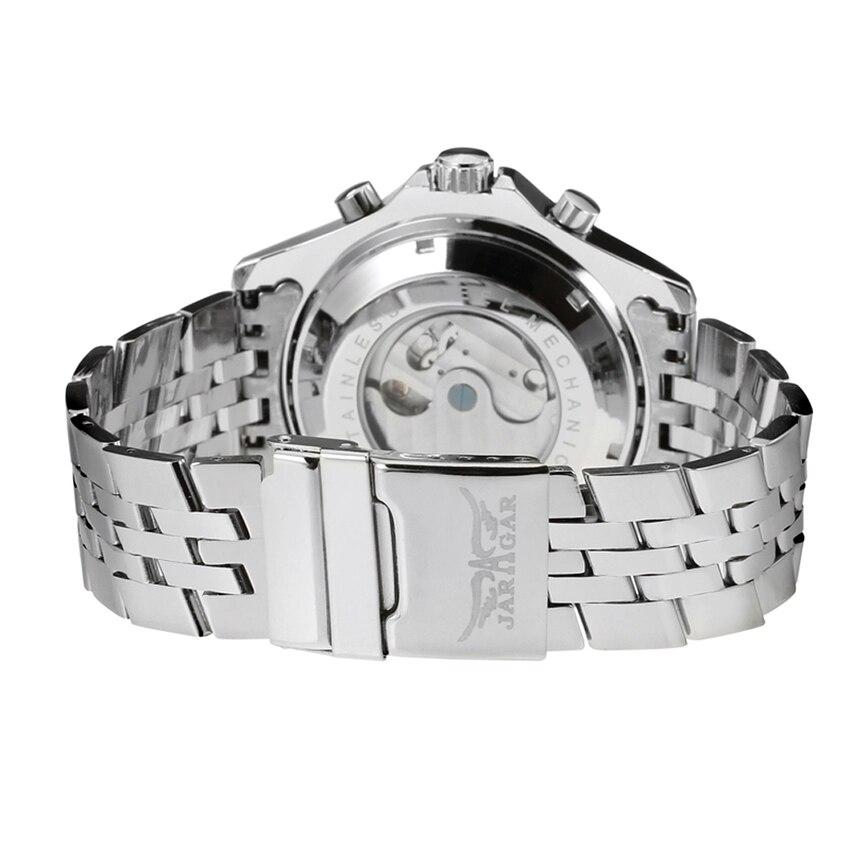 Jaragar トゥールビヨンシリーズメンズ自動機械式時計トップブランドの高級ステンレス鋼のメンズスポーツ腕時計レロジオ Masculino  グループ上の 腕時計 からの 機械式時計 の中 3