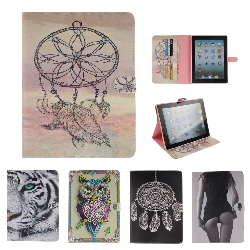 Tablet Cover for Apple iPad 2 3 4 Case Cover Magnetic Flip Case for coque New iPad 3 iPad 4 Case Cover with Stand Card Holder for coque ipad 2 3 4 case flip fo the new pad 9 7 inch stand function