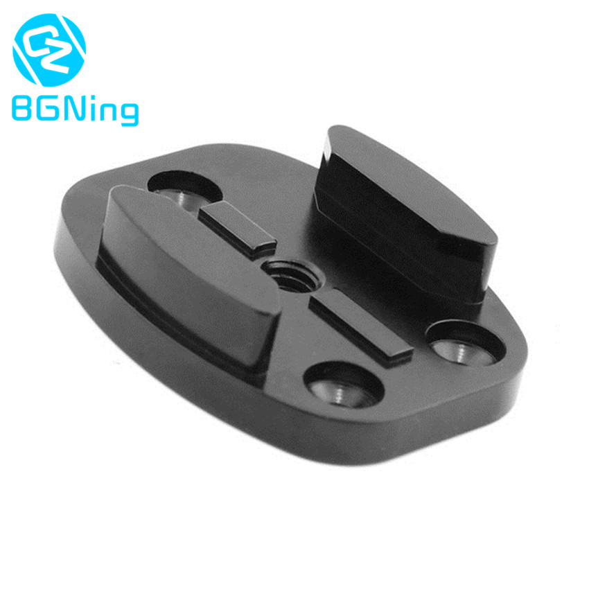 Aluminum CNC Black Flat Surface Tripod Mount Adapter For All Gopro Hero 5 4 3 / SJcam / Yi Action Cameras With 1/4 Screw Hole