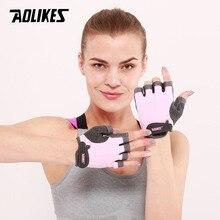 AOLIKES, 1 пара, перчатки для спортзала с полупальцами, Перчатки для фитнеса, унисекс, для взрослых, на запястье, для занятий тяжелой атлетикой, для мужчин и женщин