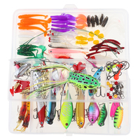 140pcs/lot Fishing Lures Kit Mixed Hard Lures Soft Baits Minnow Crank Popper VIB Wobbler Frog Lure with Box