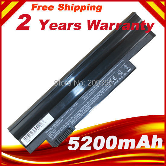 5200mah Laptop Battery For Acer Aspire One 522 D257 D260 E100 722 D270 D255 D255E AOD255E AOD257 AOD260 AO522 AOE100 AOD270 laptop motherboard for aspire one 522 ao522 p0ve6 la 7072p mbsfh02001 amd c60 ddr3