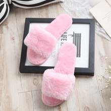 Autumn and winter home lovers cotton drag plush slippers with slip-resistant female indoor slippers