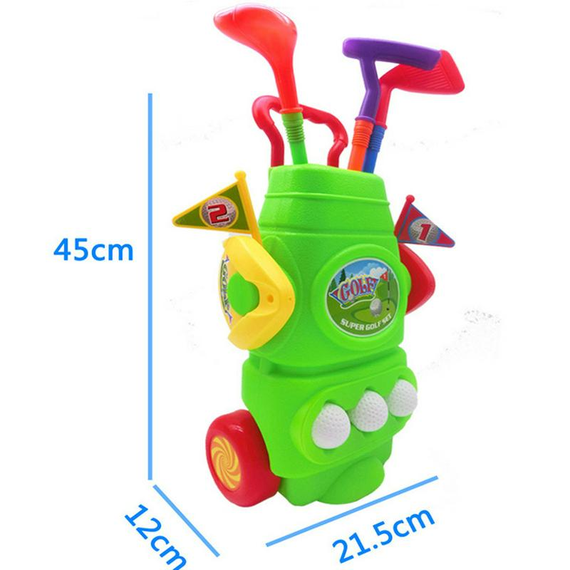 Golf Clubs Golfballs Portable Trolley Kids Toy Mini Golf Set With Box Package Best Birthday Gift Indoor Outdoor Education Games hatsune miku winter plush doll