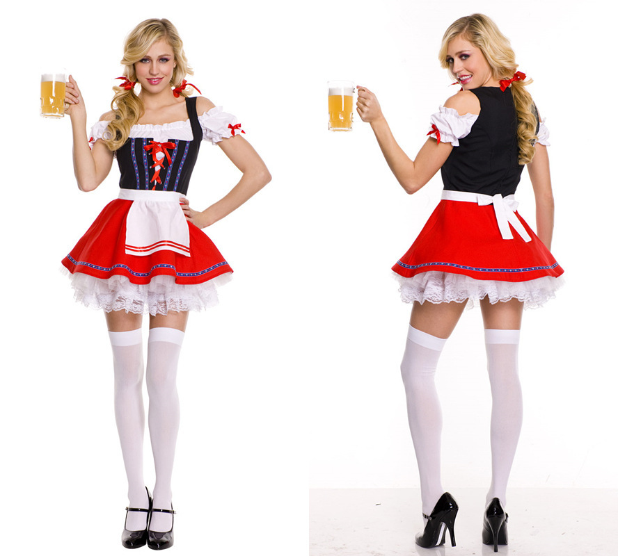 Hot Fashion German Beer Girl Costumes Sexy Halloween Maid