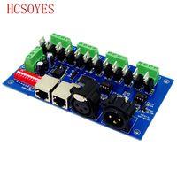 (1 sztuk/partii) DC12 24V 12 kanałowy każdy kanał kanał Max 3A 4 grup wyjście RGB z (XLR RJ45) dmx512 dekoder kontroler RGB w Kontrolery RGB od Lampy i oświetlenie na