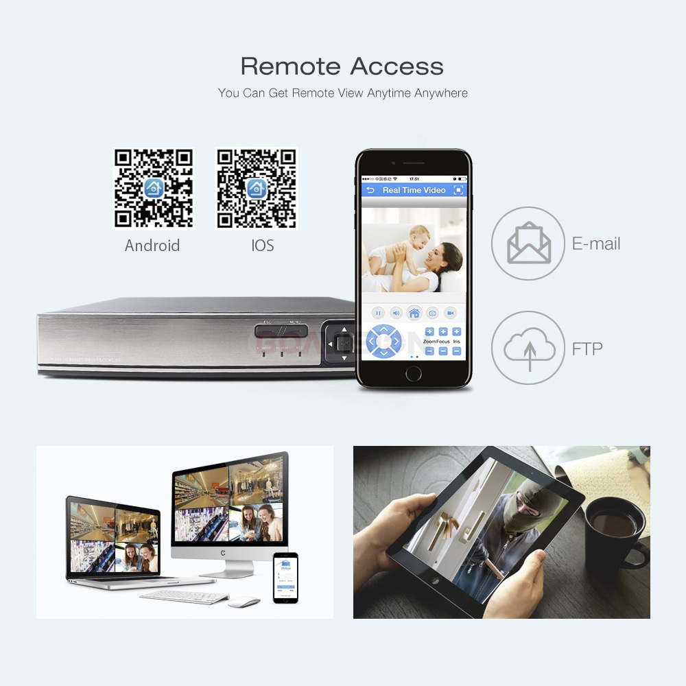 8CH 16CH 5MP CCTV NVR H.265/ H.264 5MP/1080P Playback CCTV Network Video Recorder FTP ONVIF For IP Camera Security System