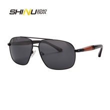 Cool Men Sunglasses UV400 Polarized Driving Eyewear Male Eyeglasses Gafas De Sol Mirror Sun Glasses Fashion Pilot Goggle 1582
