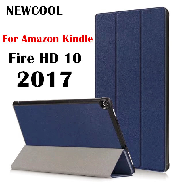 Case for Amazon Fire HD10 2017 Flip Leather Case Cover For Amazon Kindle Fire HD10 HD 10 2017 10.1 Tablet Case Protective shell white tablet protection cover ultra slim leather case stand cover for amazon kindle fire hd 7 tablet best case for tablet