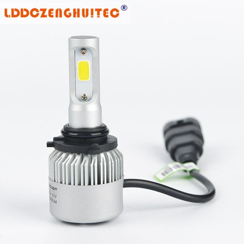 Lddczenghuitec S2 удара h7 светодиодные фары 72 Вт 8000lm ВОДИТЬ Автомобиль H11 H1 H3 Фары для автомобиля лампы фары противотуманные свет 12 В Авто 6500 К