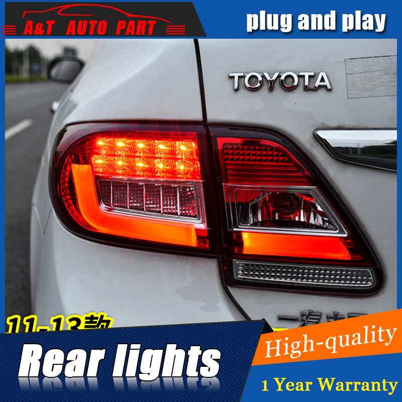 Car Styling LED Tail Lamp for Toyota Corolla Tail Light 2011-2013 for Corolla Rear Light DRL+Turn Signal+Brake+Reverse LED light car styling tail lights for toyota corolla 2011 2013 taillights led tail lamp rear trunk lamp cover drl signal brake reverse