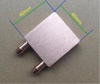 Free Ship 2pcs Pure Copper CPU Water Cooling Block 40 40 10mm Liquid Cooler Waterblock Radiator