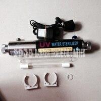 Новинка; Лидер продаж 220 В 55 Вт стерилизатор воды 304 нержавеющая сталь ультрафиолетового сточных вод integrated стерилизатор 12GPM/2,7 т 3/4 внешняя ре