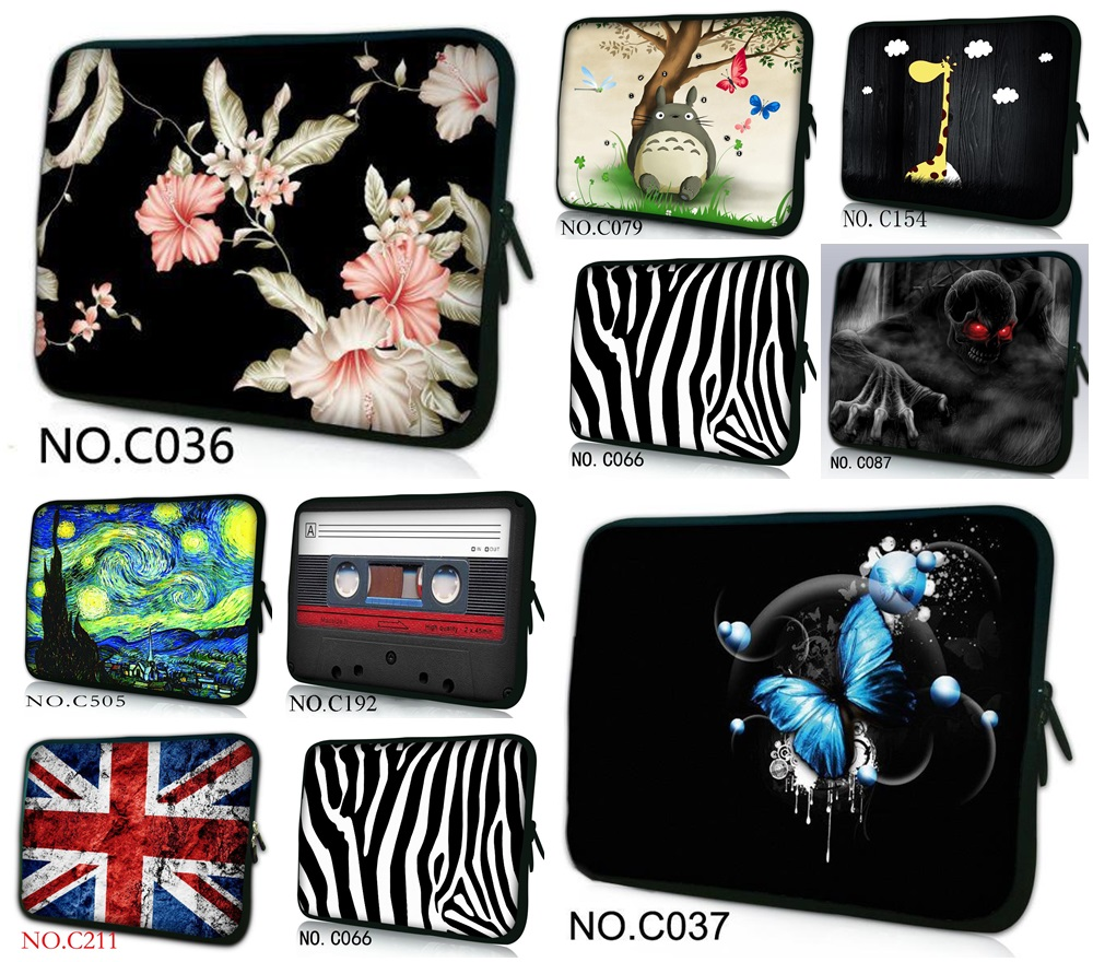 "7/""10/"" 12/"" 12.5/"" 13/"" 14/"" 15.6/"" 17/"" Universal Sleeve Case Laptop Bag Pouch Cover"