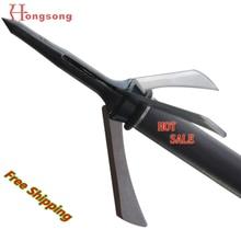 Hot sale!!! 2″ cut Mechanical Hunting Broadhead,3Blades Points,100gr Bow and Crossbow Arrowhead