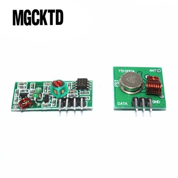 100% new RF wireless receiver module & transmitter module Ordinary super- regeneration 315/433MHZ for arduino image