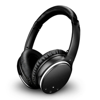Bluetooth Active Noise Cancelling Headphones Wireless Stereo Headset With Mic Foldable Over Ear HiFi Noise Isolation