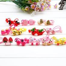Cartoon Hair children Princess Kitty Butterfly cake Headwear Girl Hair Rope Hearts Hair Accessories Rubber bands