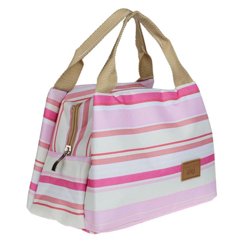 New Thermal Insulated Lunch Box Tote Cooler Zipper Bag Bento Lunch Pouch Insulated Food Storage Kid Tote Cooler Zipper Pouch !