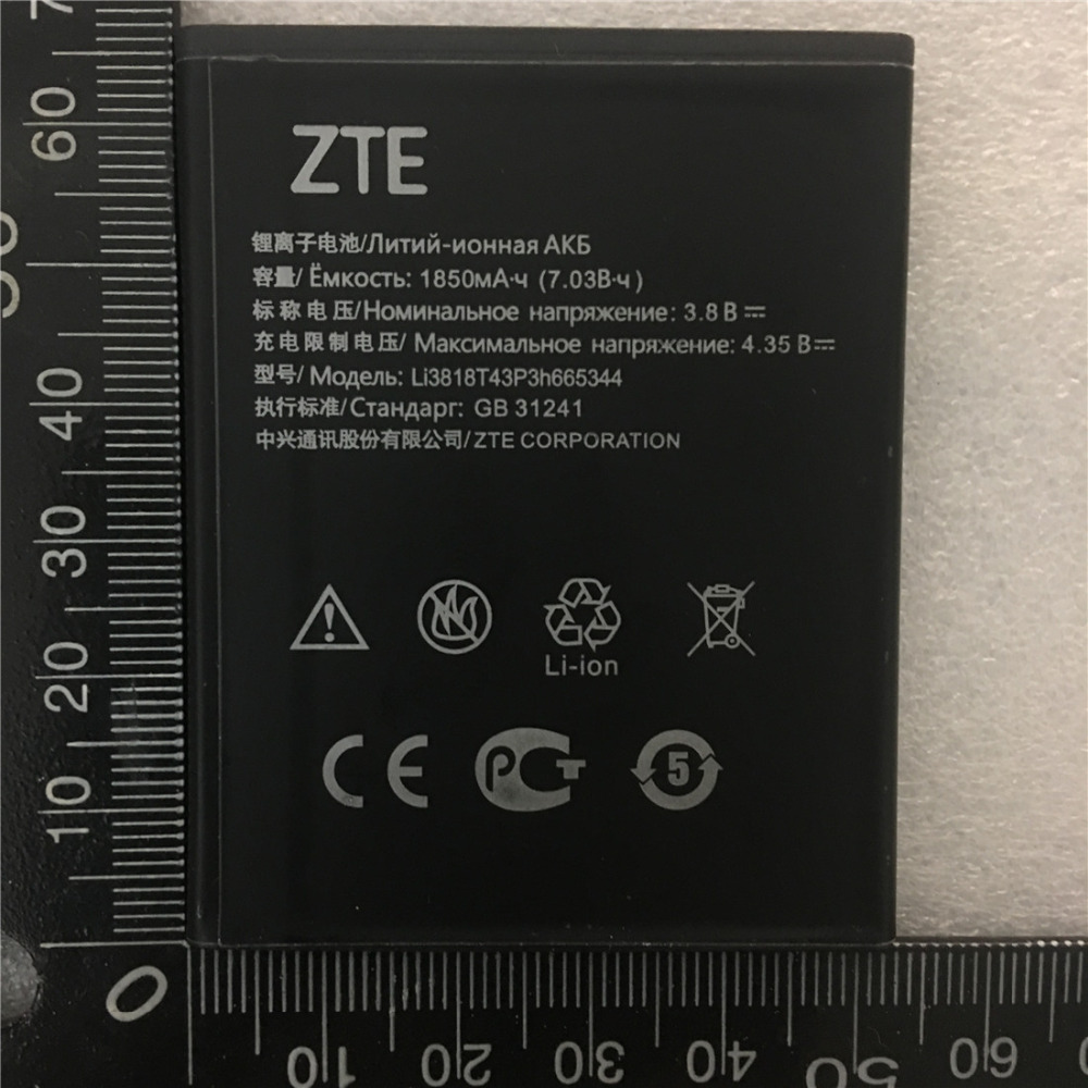 Original Mobile Phone Replacement 3.8V 1850mAh Li3818T43P3h665344 For ZTE Blade GF3 T320 Battery Baterij Batteries