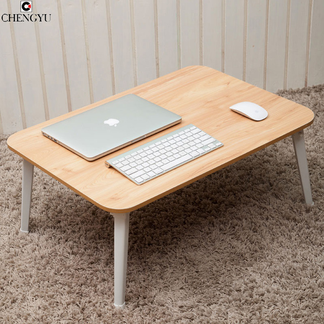 5 Styles Simple Fashion Solid Wooden Bed Computer Desk Laptop Lazy Table Folding Small