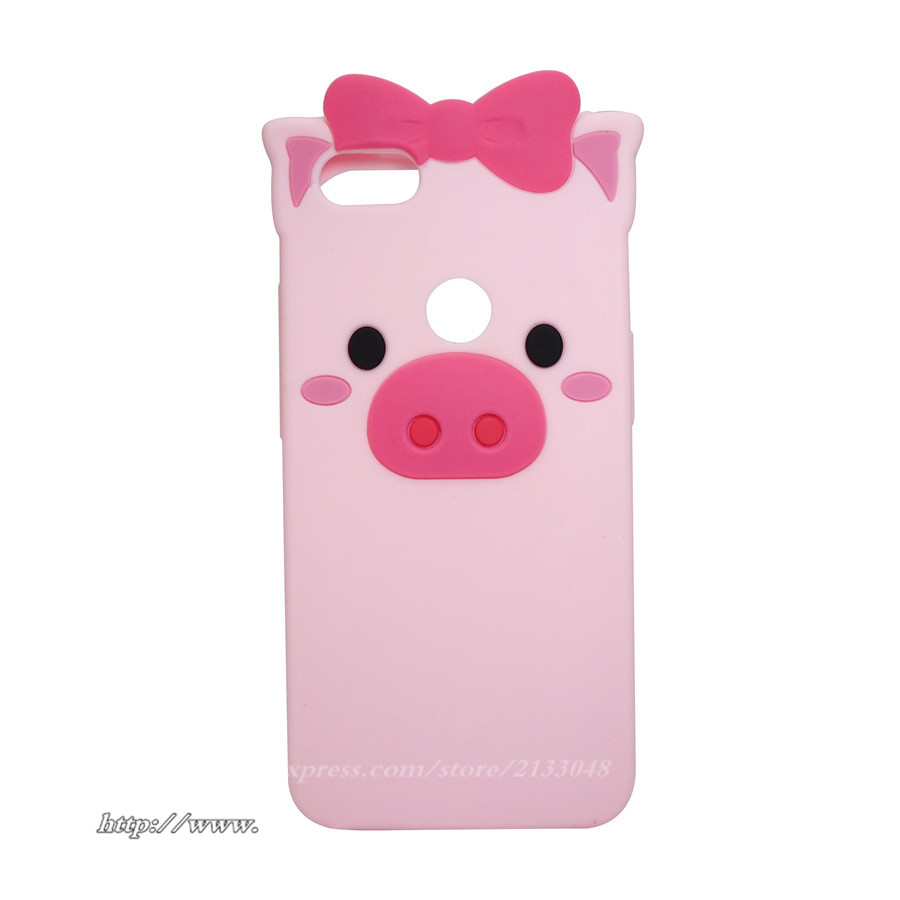 3D Cartoon Pink Pig Silicone Phone Cases For Xiaomi Redmi Note 5A Prime Back Cover For Redmi Note 5A / 5A Pro Phone Bag