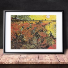 Van Gogh The Red Vineyard 1888 Canvas Art Print Painting Poster Wall Pictures For Room Home Decorative Decor No Frame