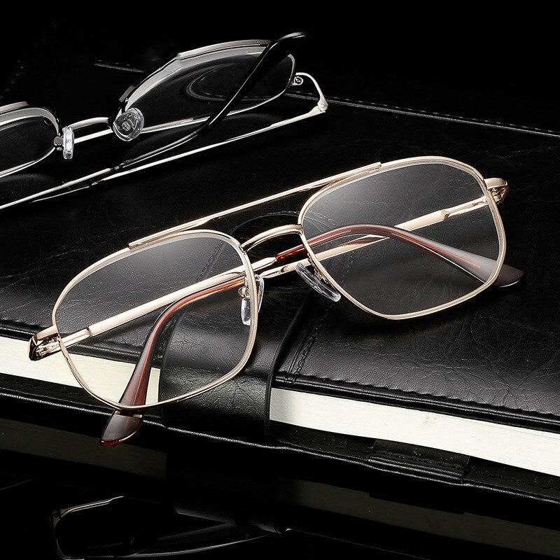 Fashion Business Men Spring Legs Frame Glasses Reading Glasses For Reader Male Optical Eyeglasses Diopter Presbyopia Glasses