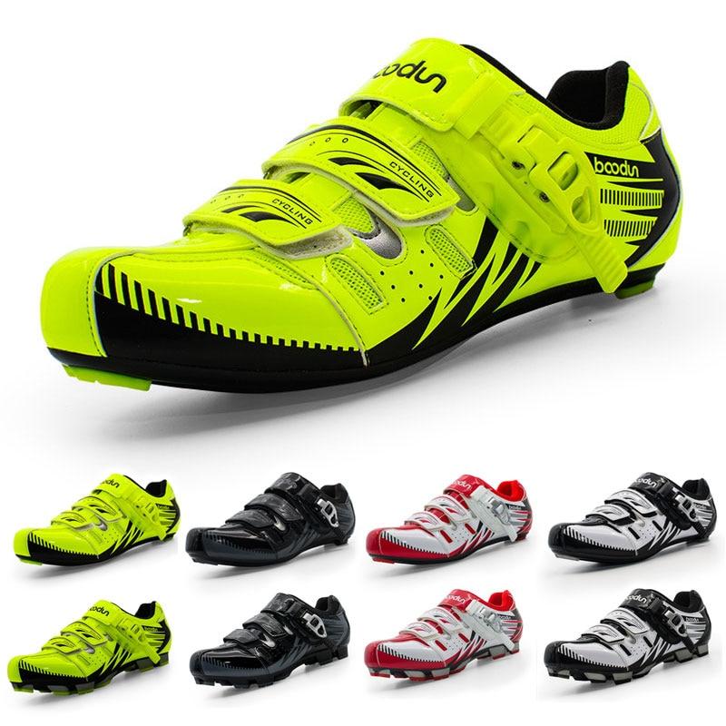 Boodun Men Cycling Shoes MTB Mountain Bike Breathable Athletic Sports Riding Hot